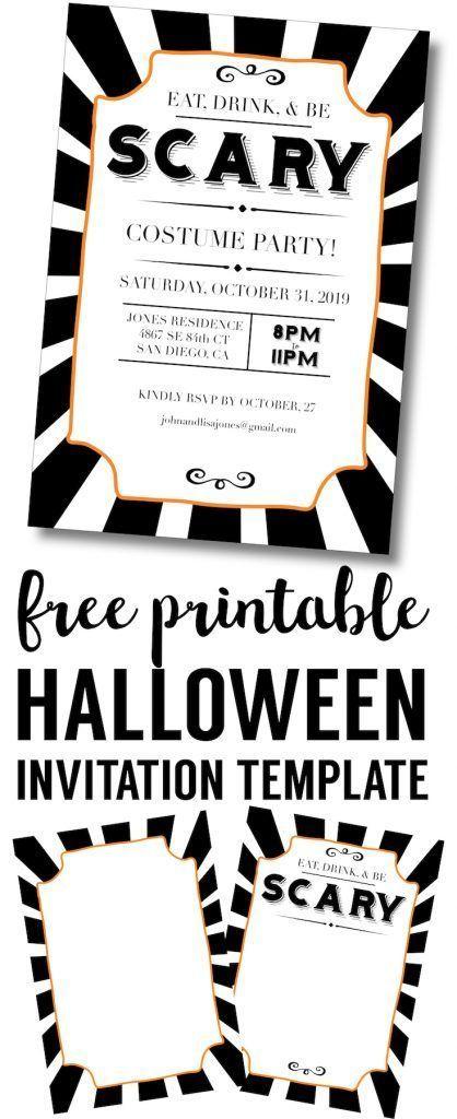 Invitation Templates Free Unique Halloween Invitations Free Printable Template  Halloween .