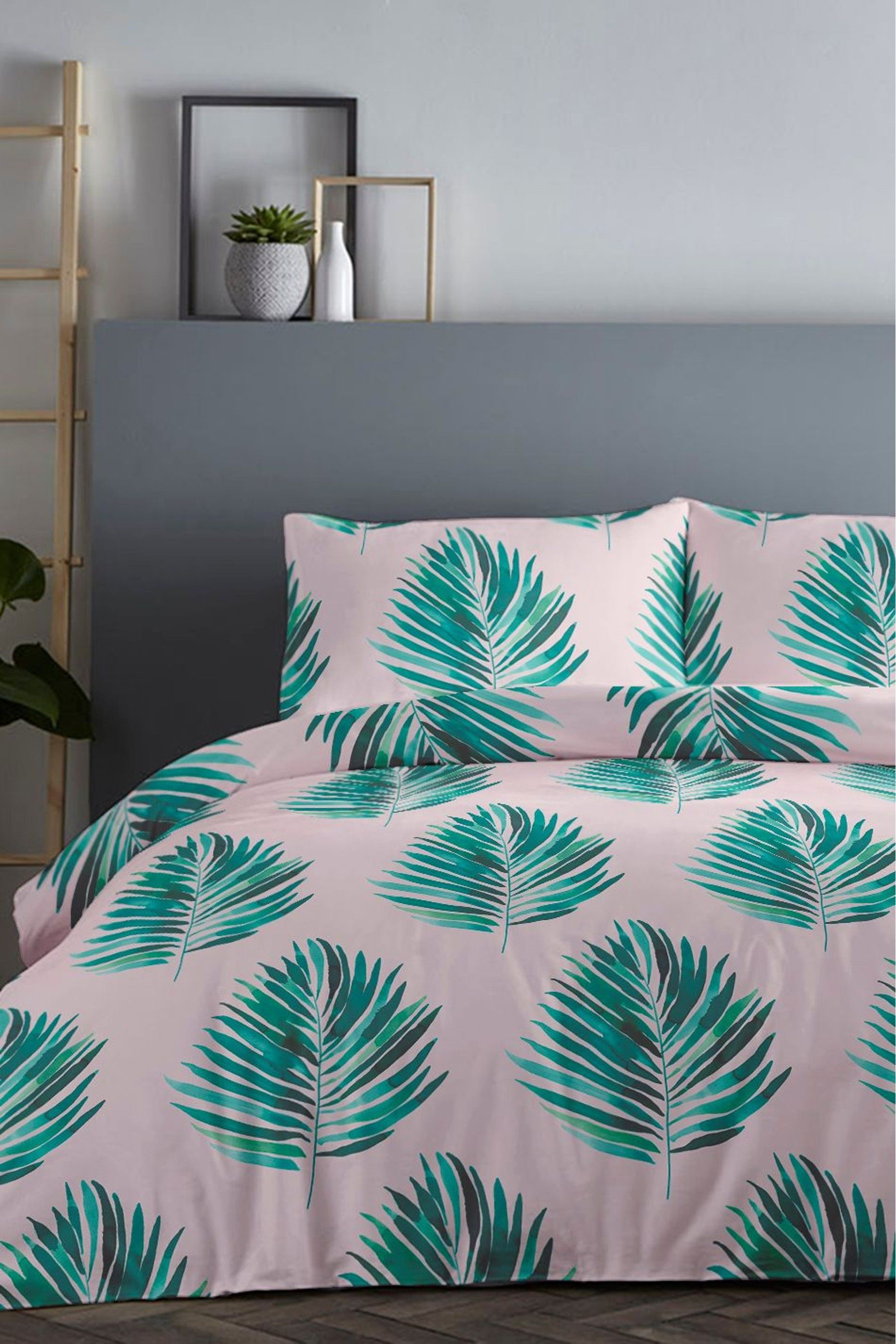 Best Fusion Leaves Duvet Cover And Pillowcase Set Bedding 400 x 300