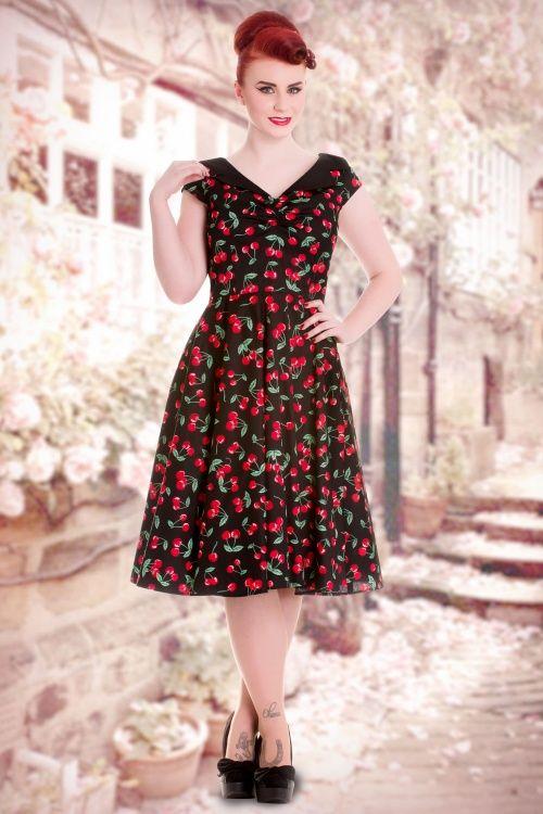 Bunny 50s Cherry Pop Swing Dress 104 14 14680 20150319 0012W