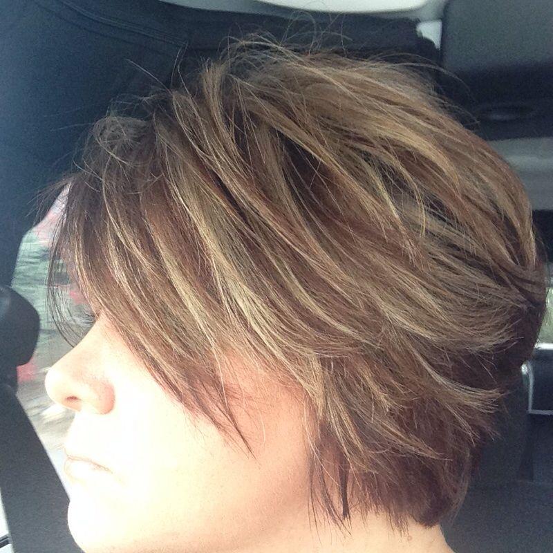 Short Brown Hair With Blonde Highlights Hair Pinterest