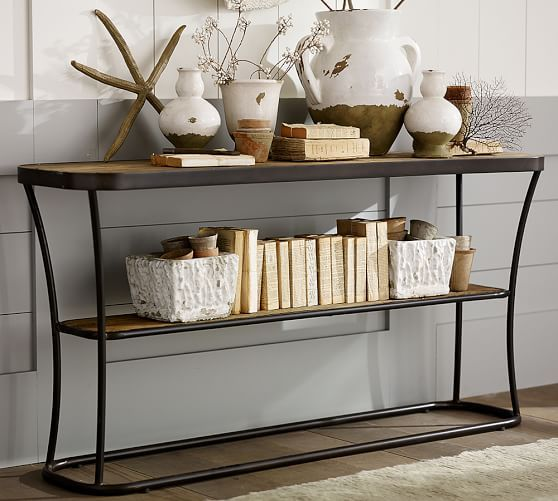 Bartlett Reclaimed Wood Console Table | Pottery Barn