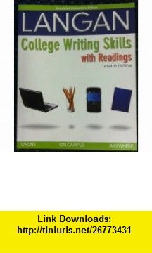 Annotated instructors edition college writing skills with readings annotated instructors edition college writing skills with readings eighth edition 9780077348885 john fandeluxe