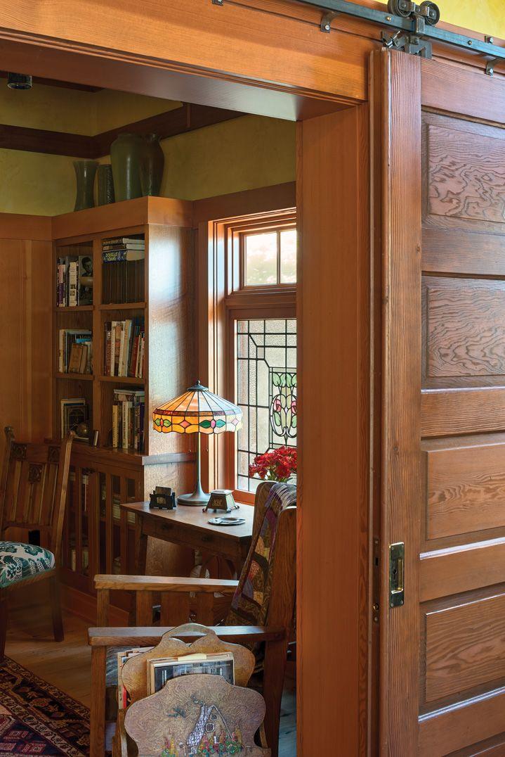 Sliding Door Craftsman Style Bungalow Craftsman Style Home