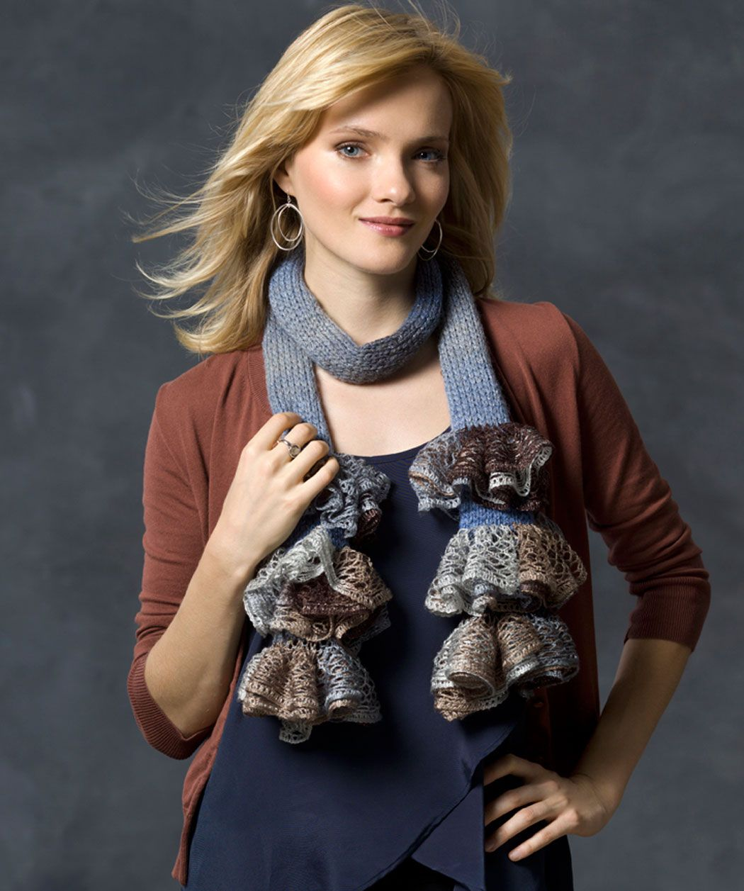 Ruffle Me Scarf Knitting Pattern | Red Heart | scarves | Pinterest ...