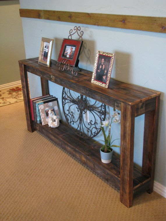 Reclaimed Farmhouse Sofa Console Table Rustic Console Tables