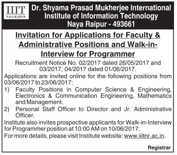 Invited Application For Faculty And Administrative Positions
