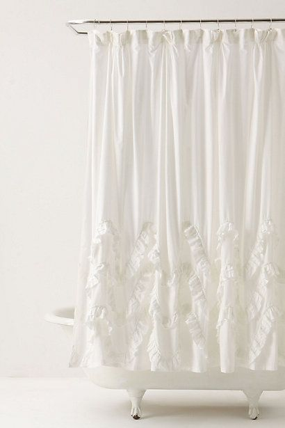 Waves Of Ruffles Shower Curtain Anthropologie Shower Curtain