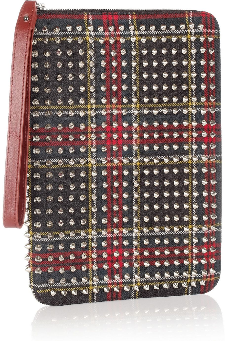 64cfbe688e2 Christian Louboutin Cris spiked twill iPad case. Love. | Fashion and ...