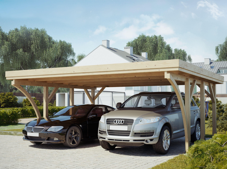 Carport 2 voitures PALERME 604 x 510 cm (avec images
