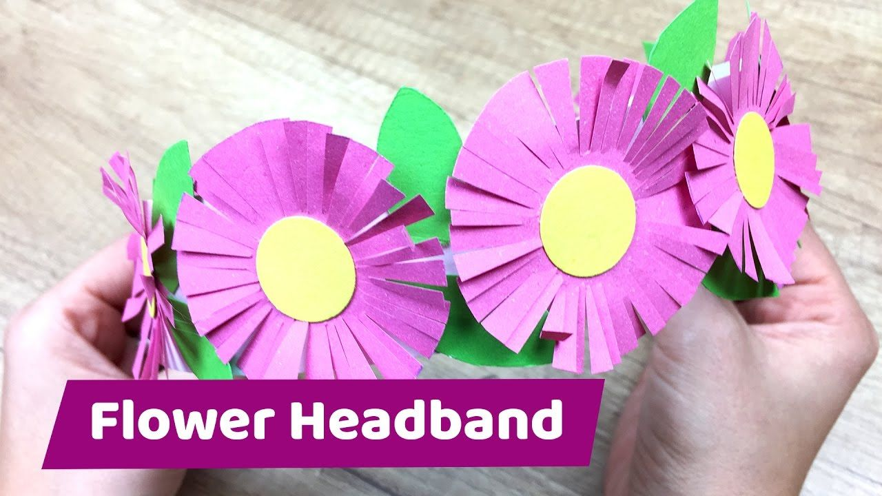 Paper Flower Headband Cute And Simple Craft Projects Pinterest