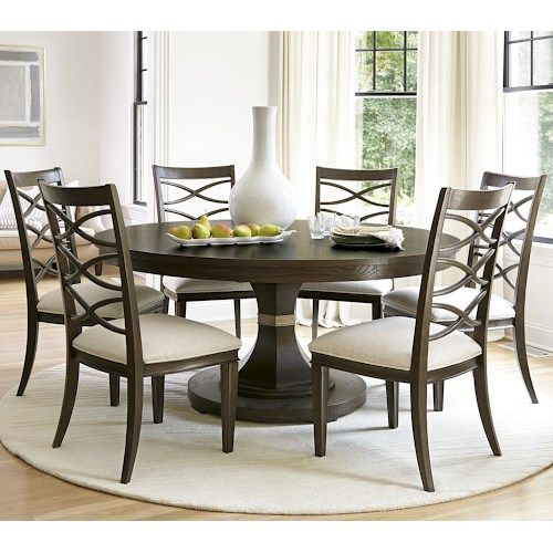 Universal California  Hollywood Hills 7 Piece Dining Set With Cool 7 Piece Round Dining Room Set Design Inspiration
