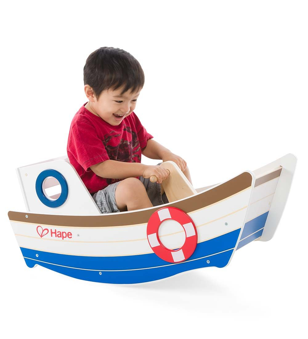 Hape Wooden Rocking Boat Go On And Rock The Boat, Baby! In This Delightful