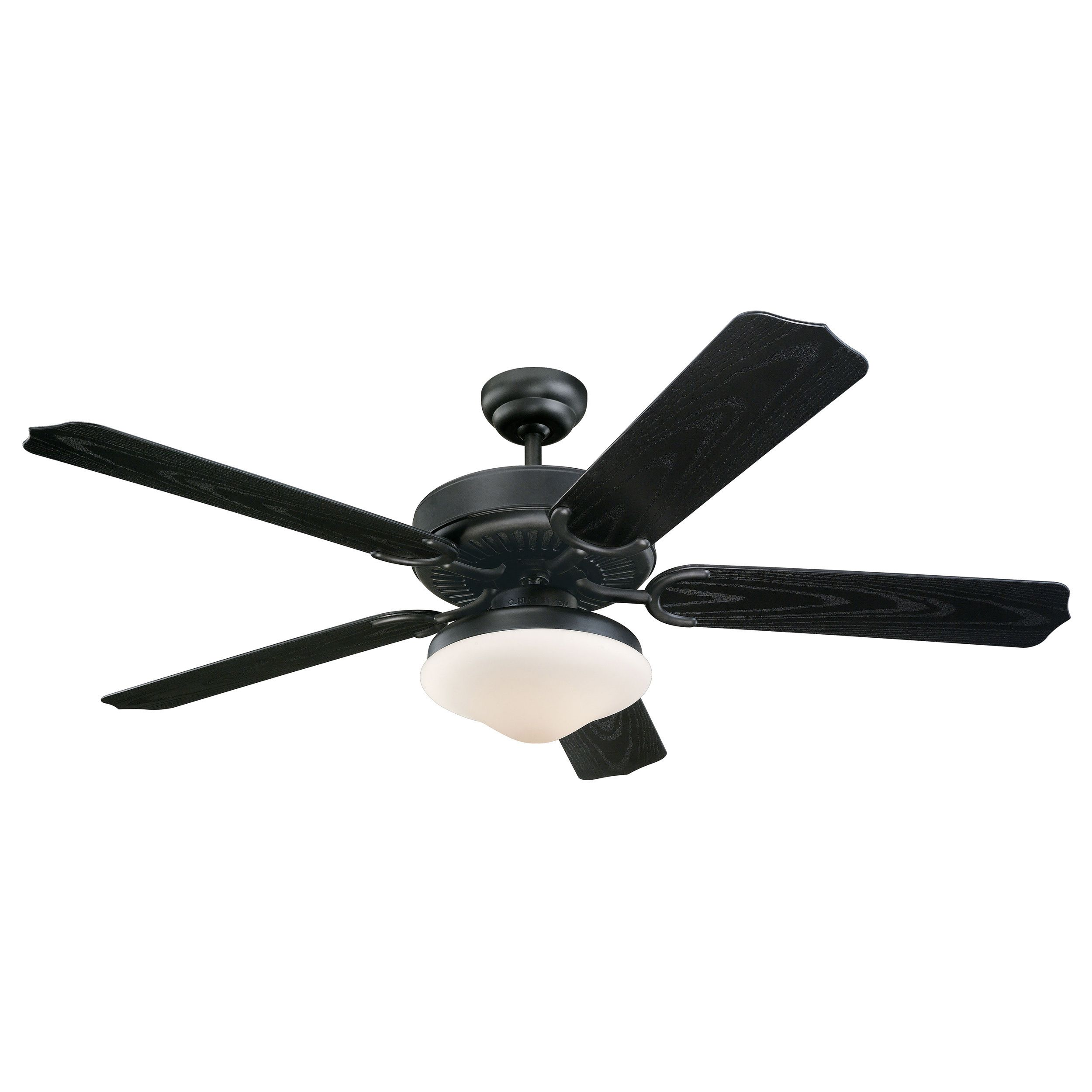 Enrich your outdoor space with this Weatherford Deluxe ceiling fan