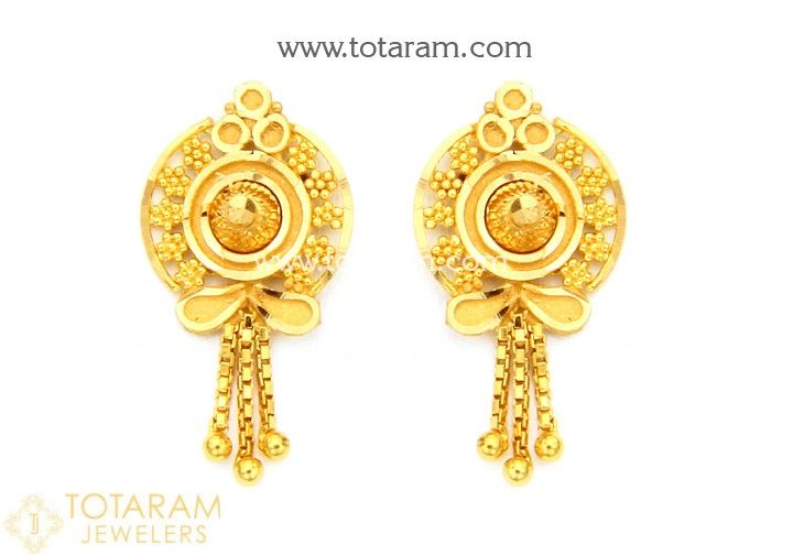 Gold Earrings For Women In 22 Karat Gold Asfh Pinterest Gold