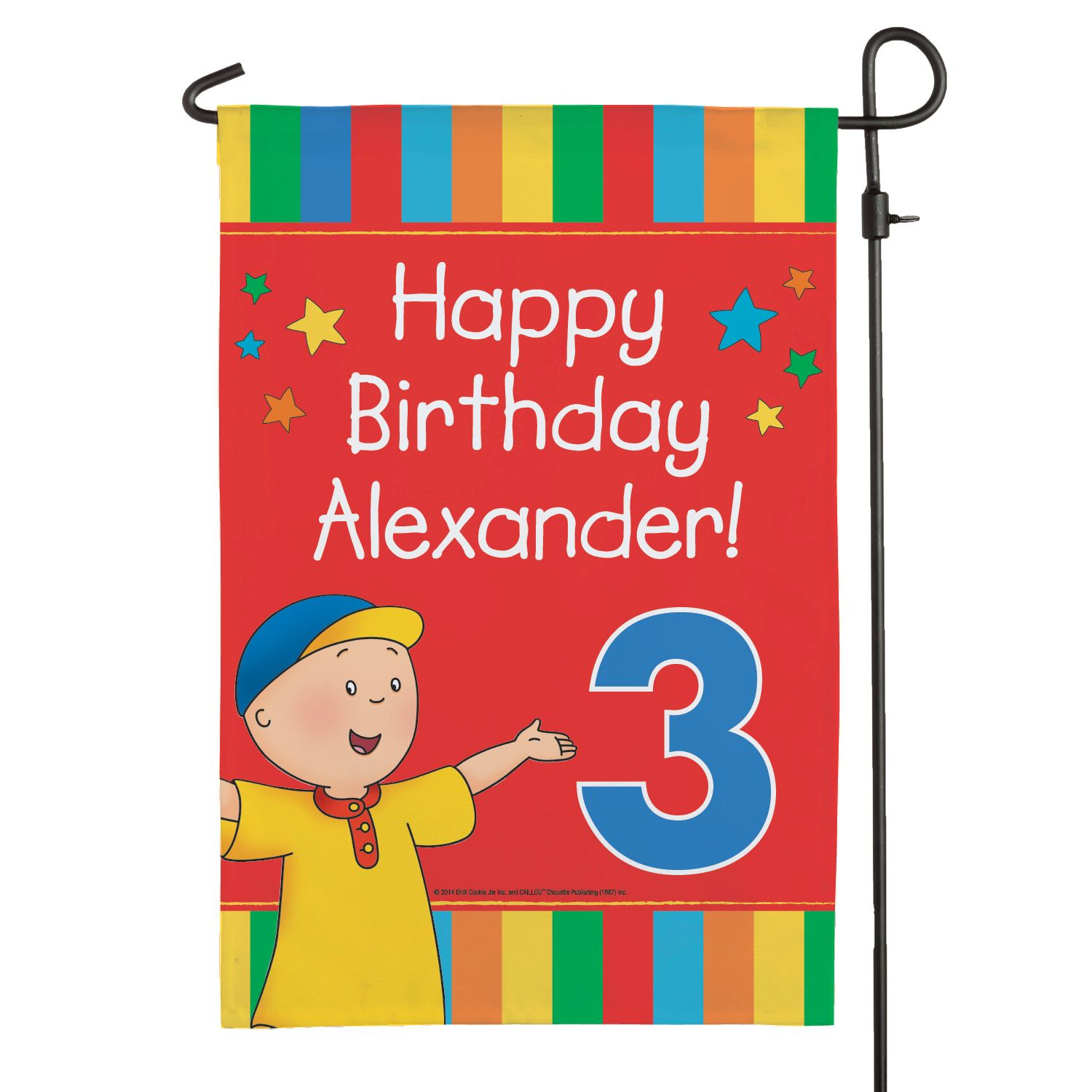 The Official PBS KIDS Shop Caillou Happy Birthday Flag