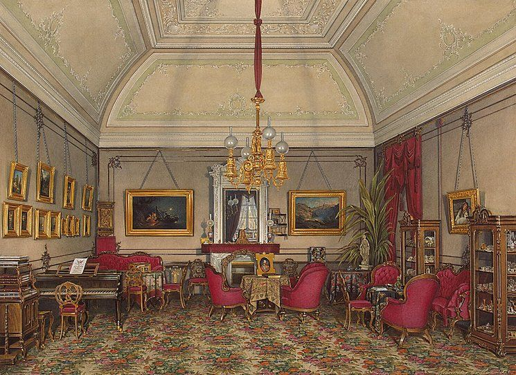 Interiors of the Winter Palace. The Fifth Reserved Apartment. The Drawing-Room of Grand Princess Maria Alexandrovna