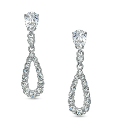 I Ve Tagged A Product On Zales Ava Nadri Cubic Zirconia And Crystal Teardrop