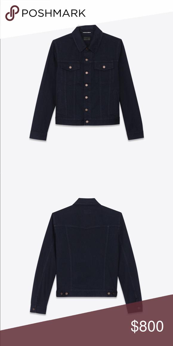 9420c2d875 YSL (Yves Saint Laurent) Black Denim Jacket Sz. M YSL (Yves Saint ...