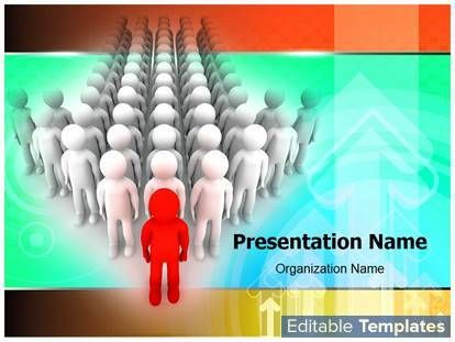 Organizational Leadership PowerPoint presentation templates - graphs and charts templates