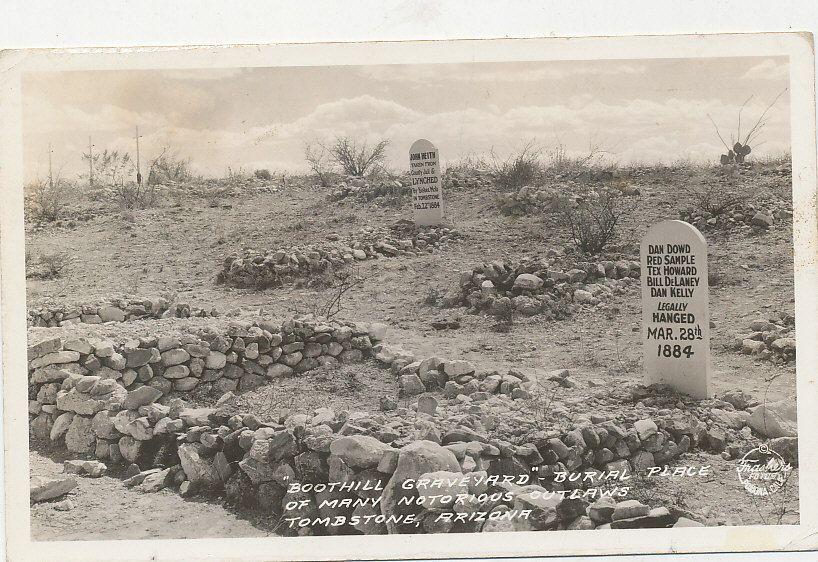 C3622 1938 rppc photo frashers postcard tombstone az