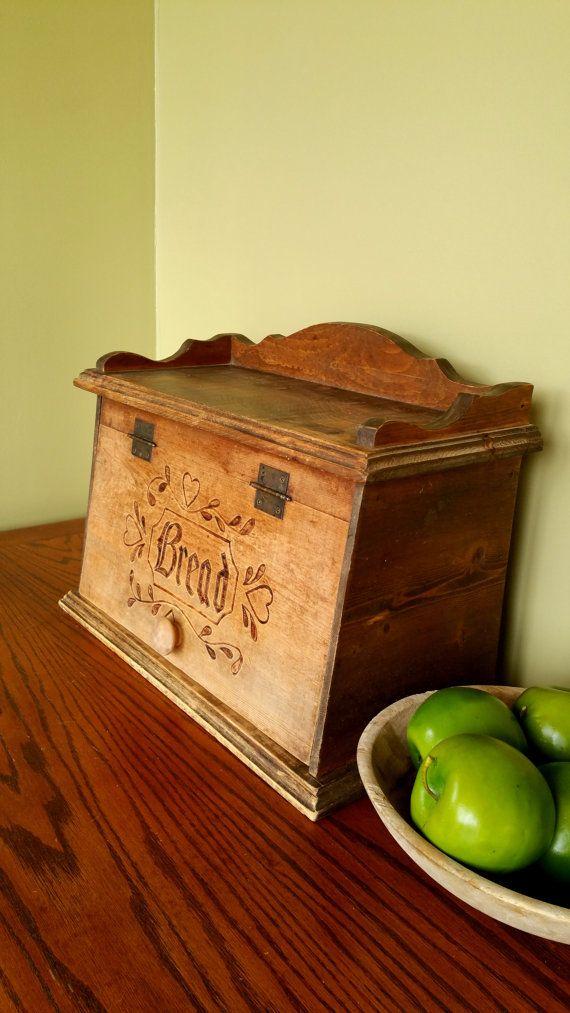 Vintage Bread Box Rustic Antique By Blindedbydelight