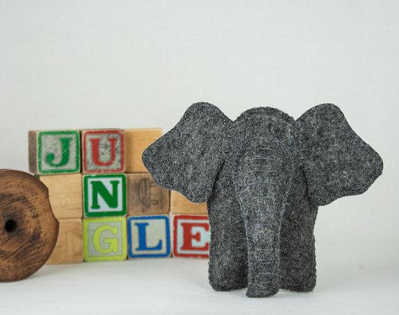 Elephant Sewing PATTERN, Felt Toy Pattern, Baby Toy Pattern, Stuffed ...