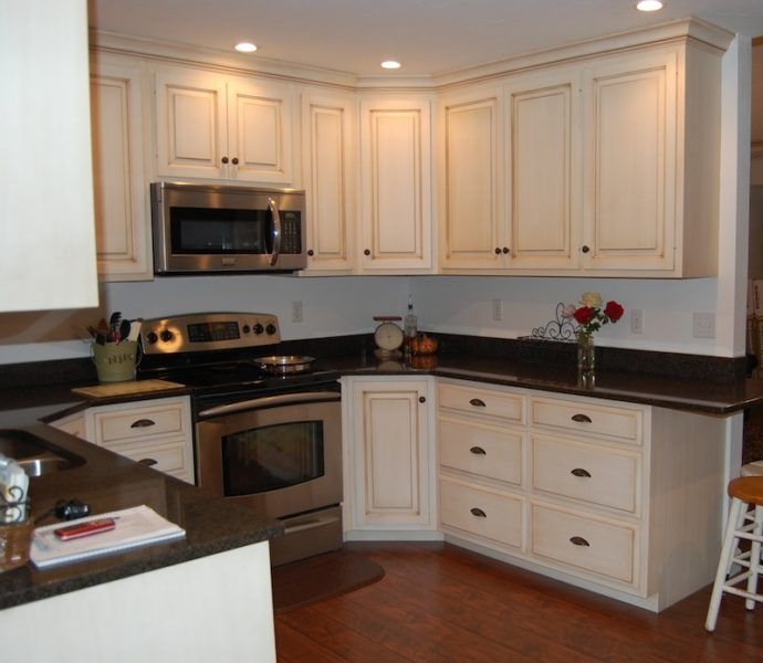 Painted Glazed Kitchen Cabinets | Kitchens