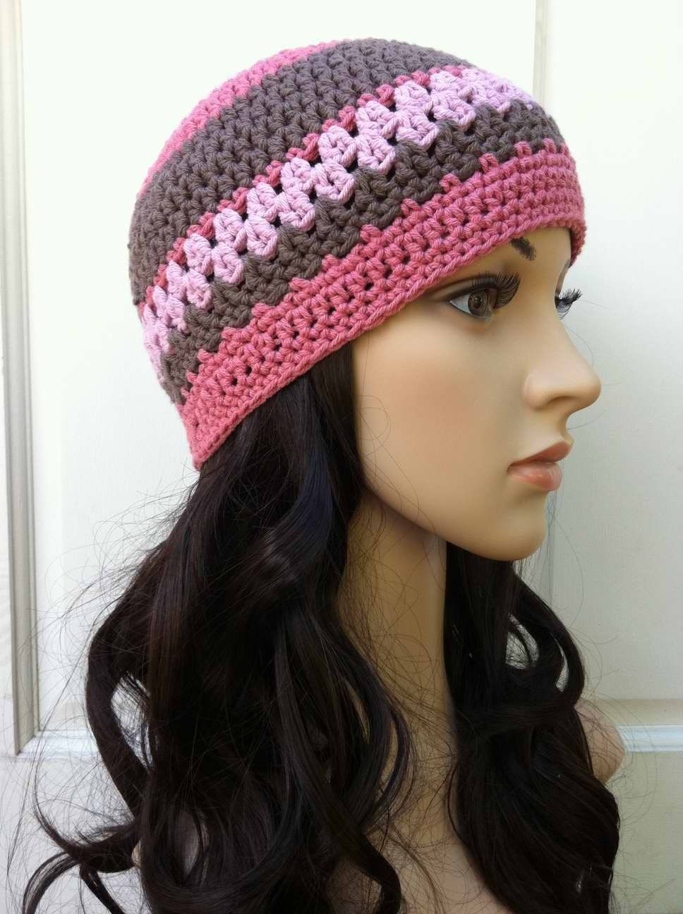 Crochet Hat Pattern - Multi Coloured Ladies Hat Crochet Pattern No.208  Emailed2U One Size.  4.00 f0f95a5b5d7
