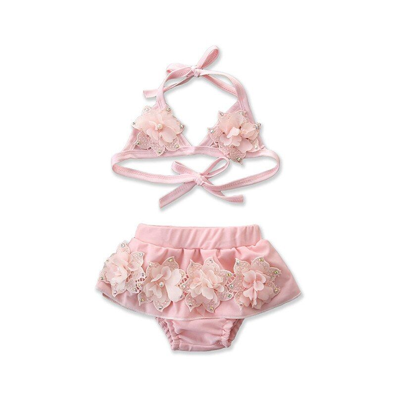 Toddler Baby Kids Girl Floral Bikini Set Swimsuit Swimwear Bathing Suit Swimming
