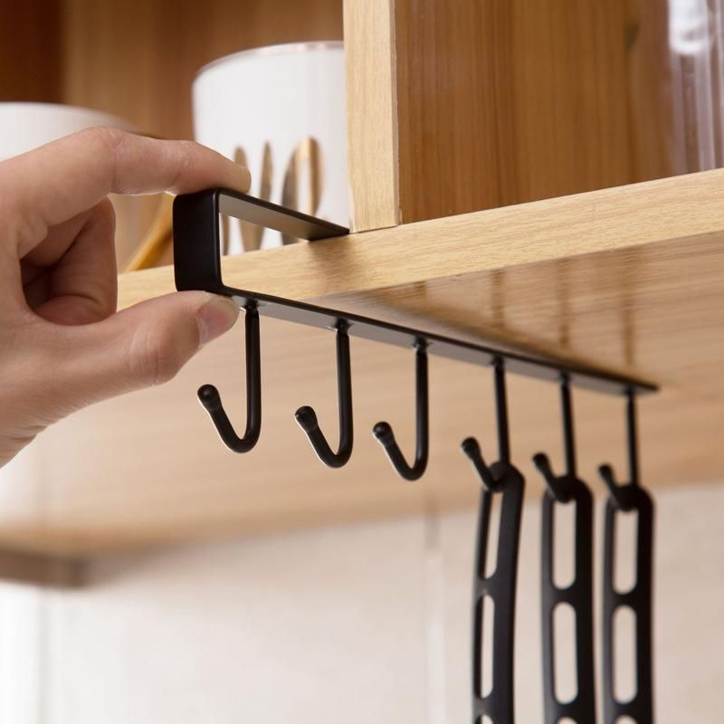 Under-Cabinet Organizer Rack with Hooks