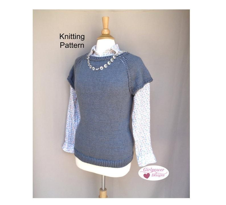 Short Sleeve Pullover Sweater Knitting Pattern, Boat Neck ...
