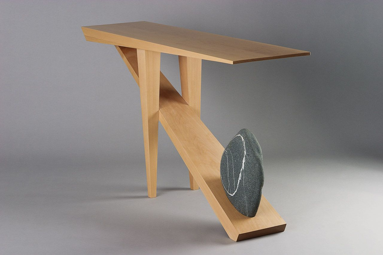 stone hall table. The North Beach Hall Table Is Based On A Collaborative Use Of Materials: Cantilevered Stone