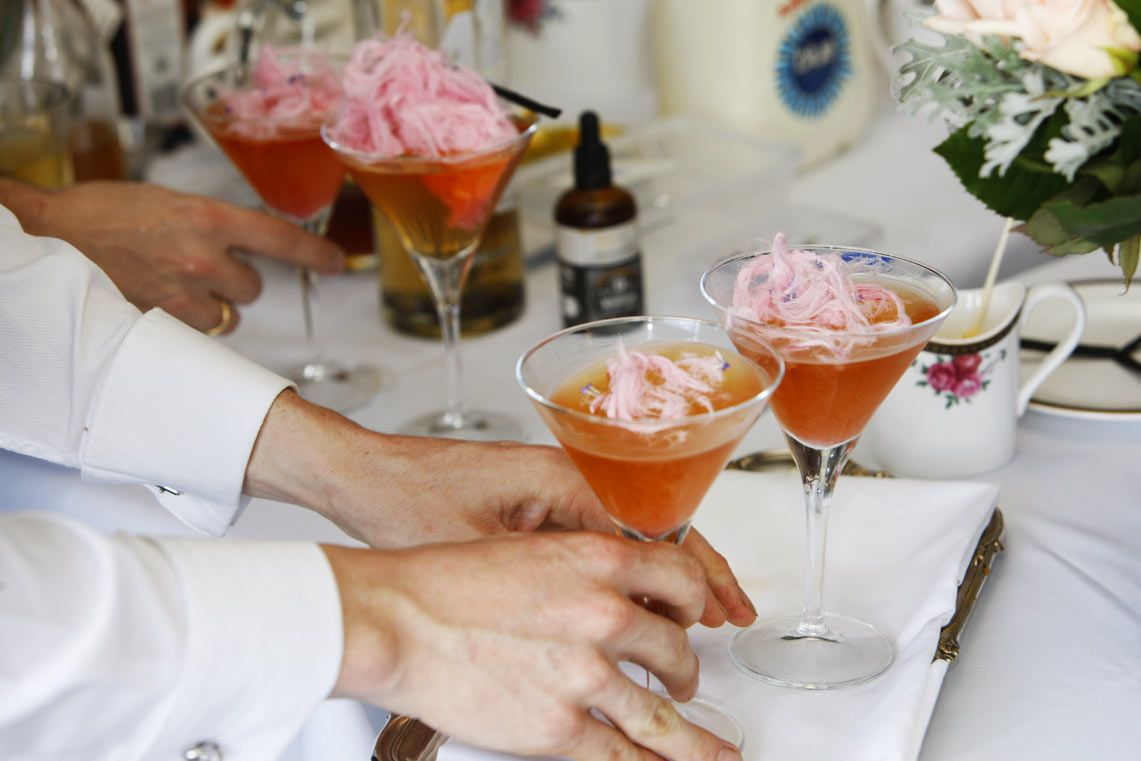 Rose French Vanilla Tea Lavender Martini By Sommelier Dilmah With Benjamin Mcmanus Langham Auckland
