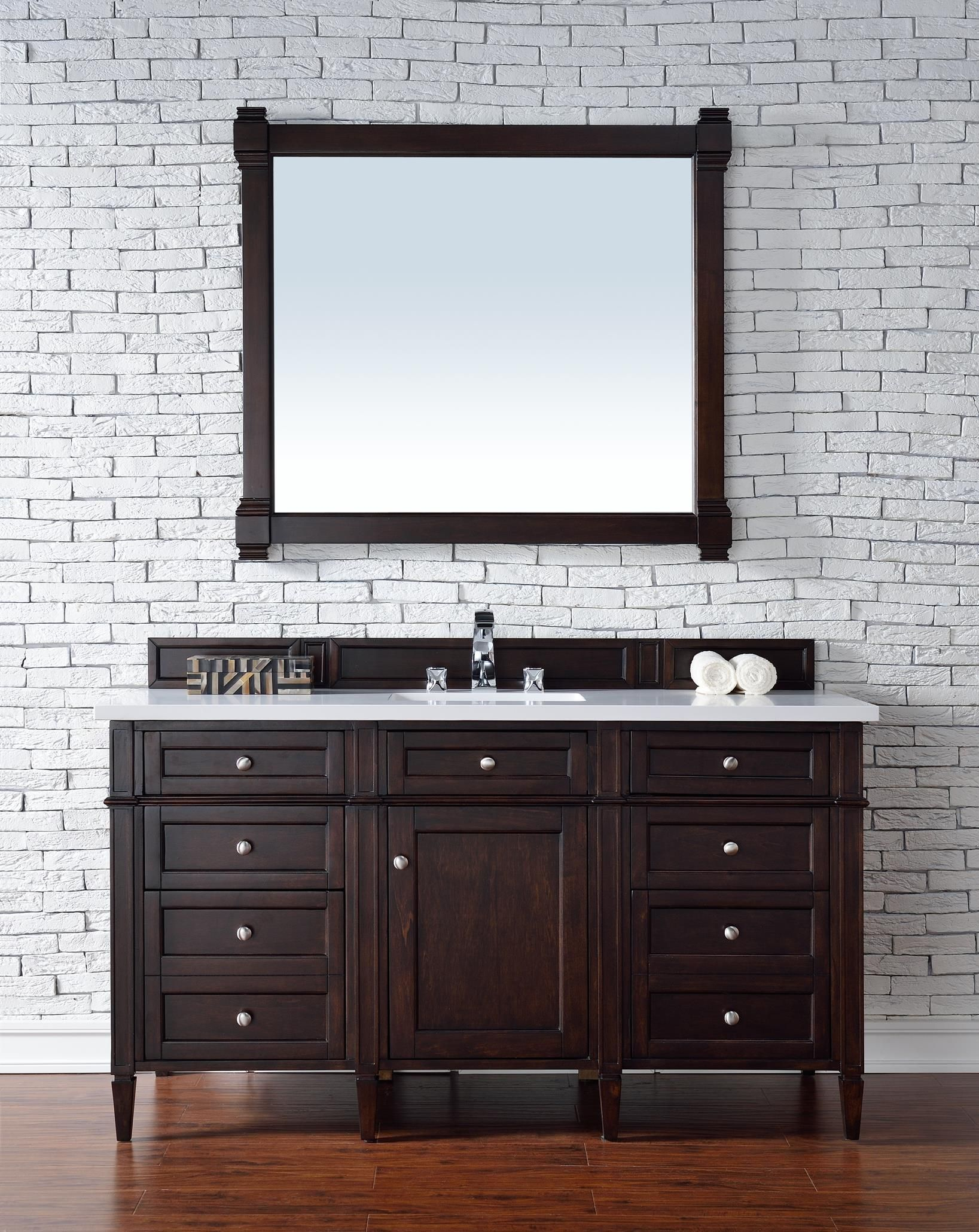 Stupendous Brittany 60 Single Sink Bathroom Vanity Cabinet Burnished Download Free Architecture Designs Embacsunscenecom