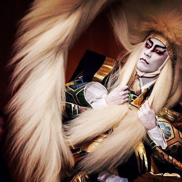 Ichikawa Ebizo XI as Renjishi | Japanese costume, Kabuki, Ichikawa