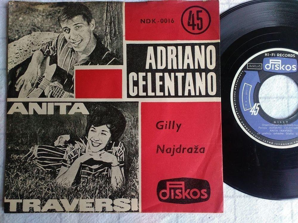 Adriano Celentano Gilly Diskos Yugo Vinyl 7 45 Unique Cover