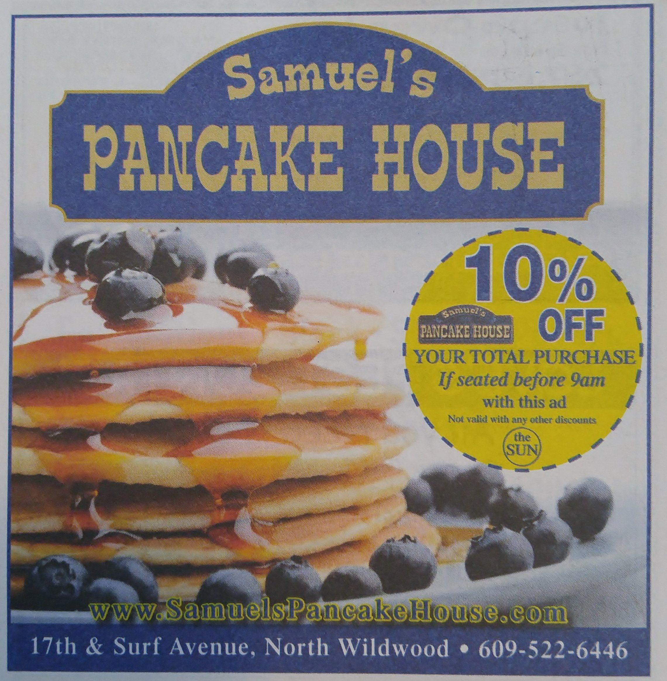 Samuel S Pancake House Newspaper The Sun May June 2016 The Pancake House Wildwood Restaurant North Wildwood
