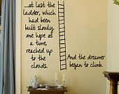 Ladder of Hope and Dreams Wall Vinyl Decor Sticker U Pick Colors