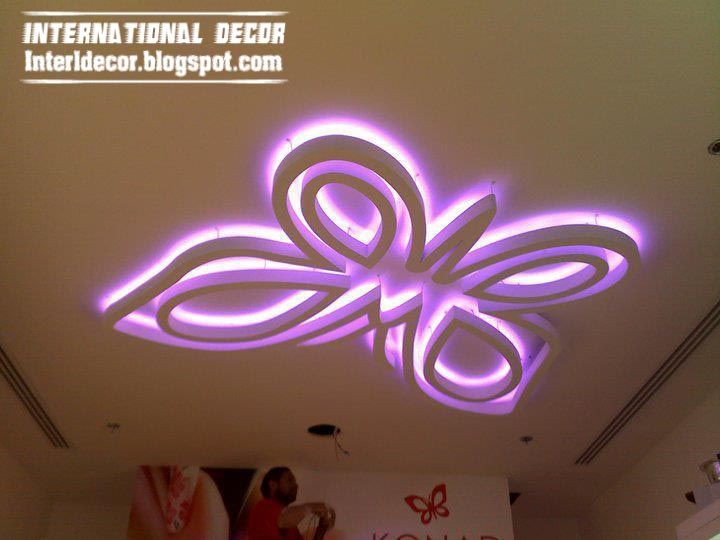 kids room ceiling lighting. youth butterfly bedrooms modern ceiling design for kids room purple light lighting