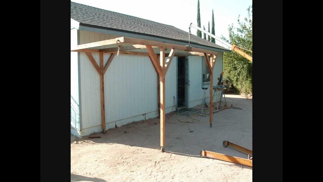 How I Built A Rolling Carport For little money Building