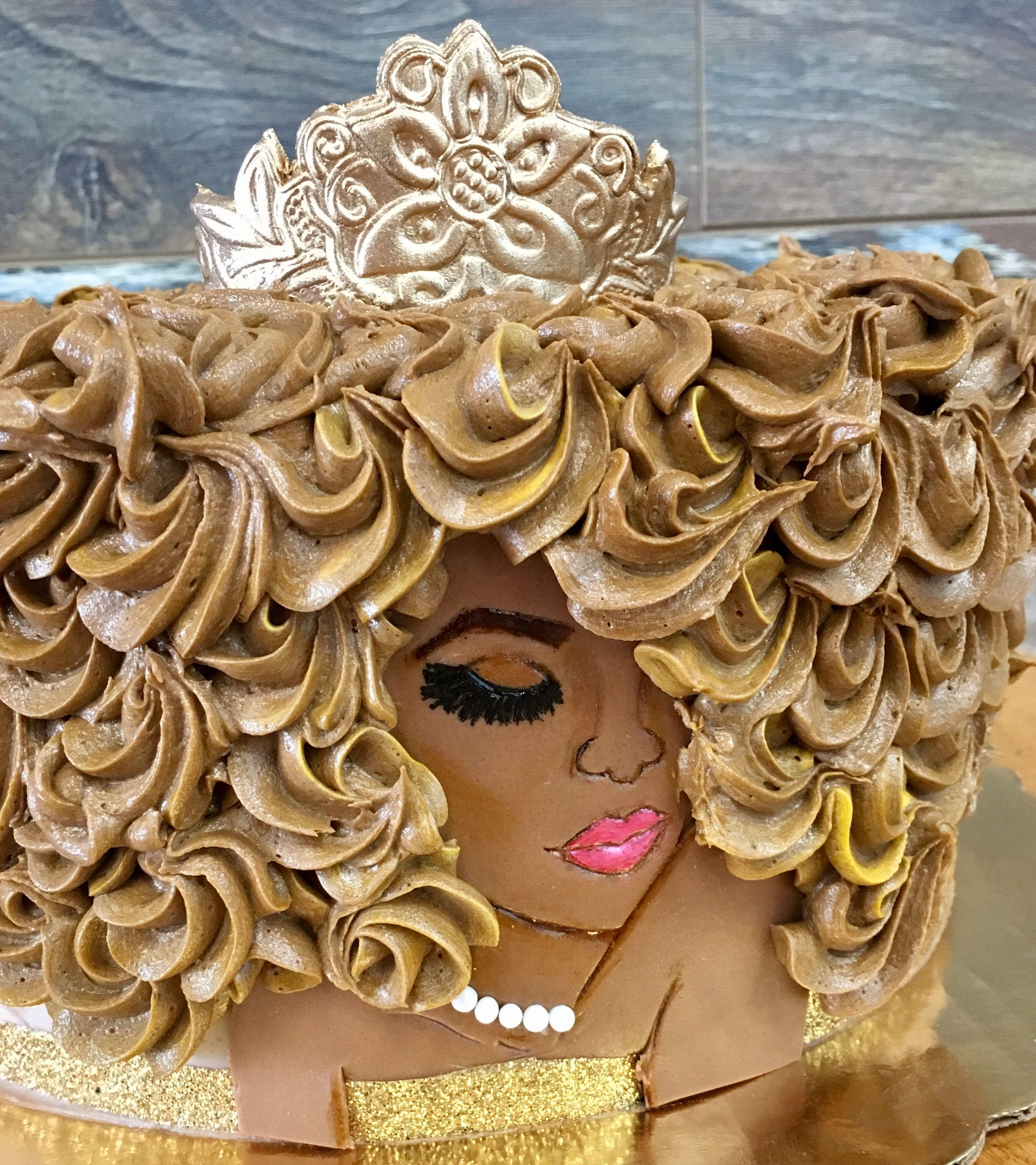 Afro Black Queen Cake Cool Cakes In 2019 Cake Queen