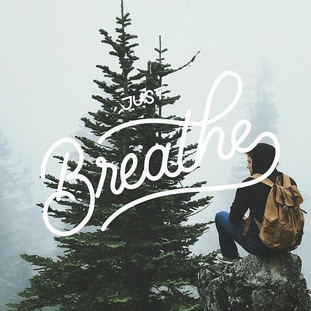 Breathe by @ryandoko - Daily typography & lettering design love ❤️ - typostrate - typostrate.com