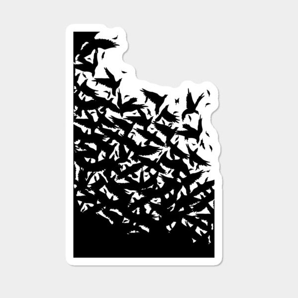 Blackbird's Attackin' In The Dead 'O' Night Sticker By Shantyshawn Design By Humans