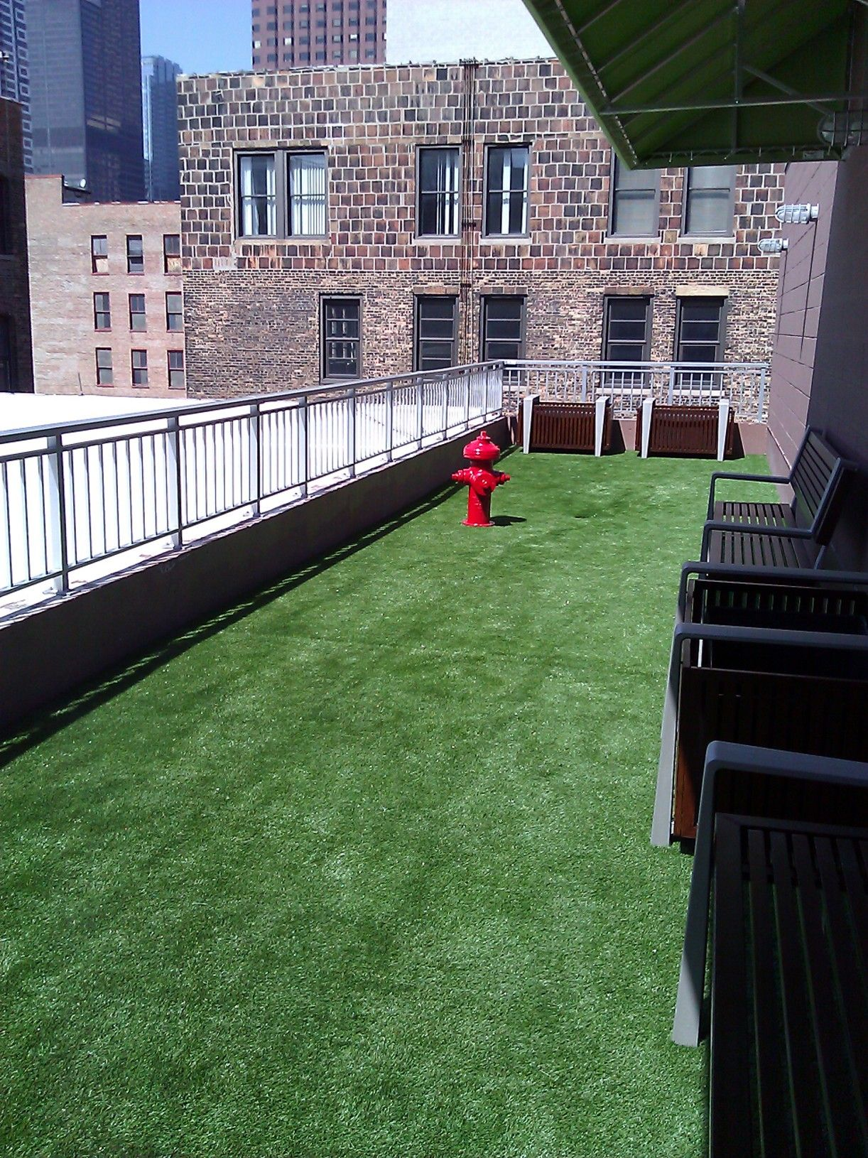 Beautiful Fake Grass Area For Your Balcony Or Deck Area. Made With Drainage So Itu0027s A