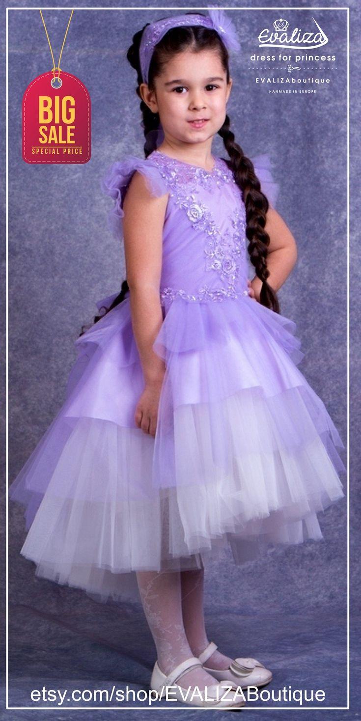 Violet flower girl dress birthday bridesmaid girl party violet flower girl dress birthday bridesmaid girl party princess dress satin ombrellifo Gallery