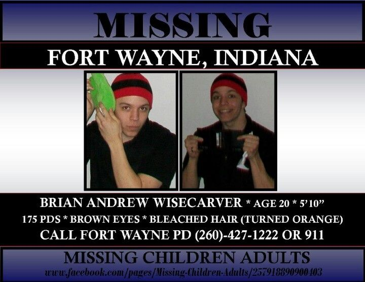 Brian Wisecarver, 20, Fort Wayne, IN | ~•Missing People•~