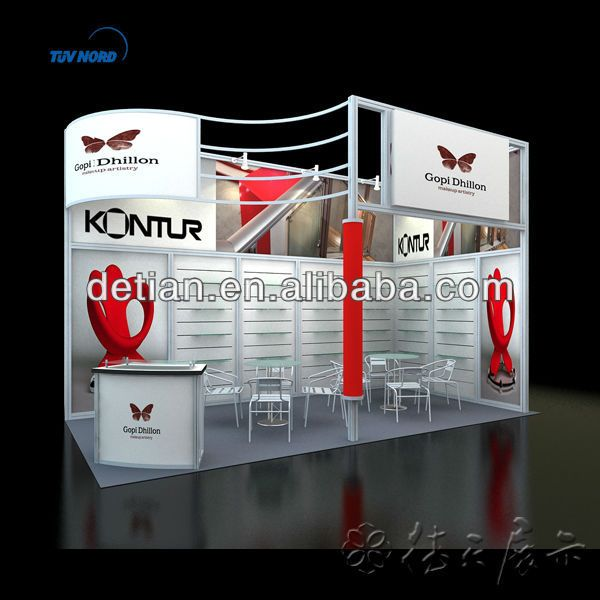 Cosmetic Exhibition Stand Design : Portable exhibition stand with octanorm system for