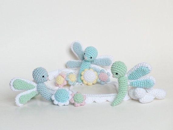 Baby Mobile Crochet Dragonfly Mobile Dragonfly Crib Mobile