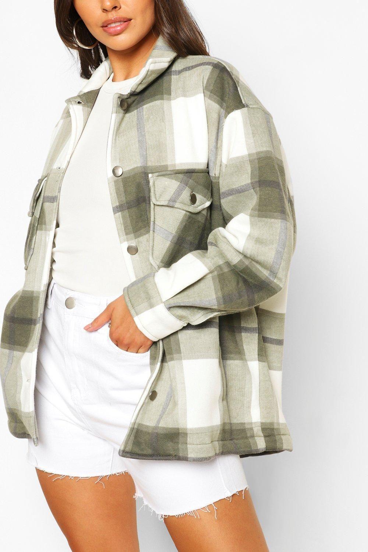 Petite Flannel Shirt Jacket Boohoo In 2021 Shirt Jacket Trendy Jackets Oversized Jacket Outfit [ 1500 x 1000 Pixel ]