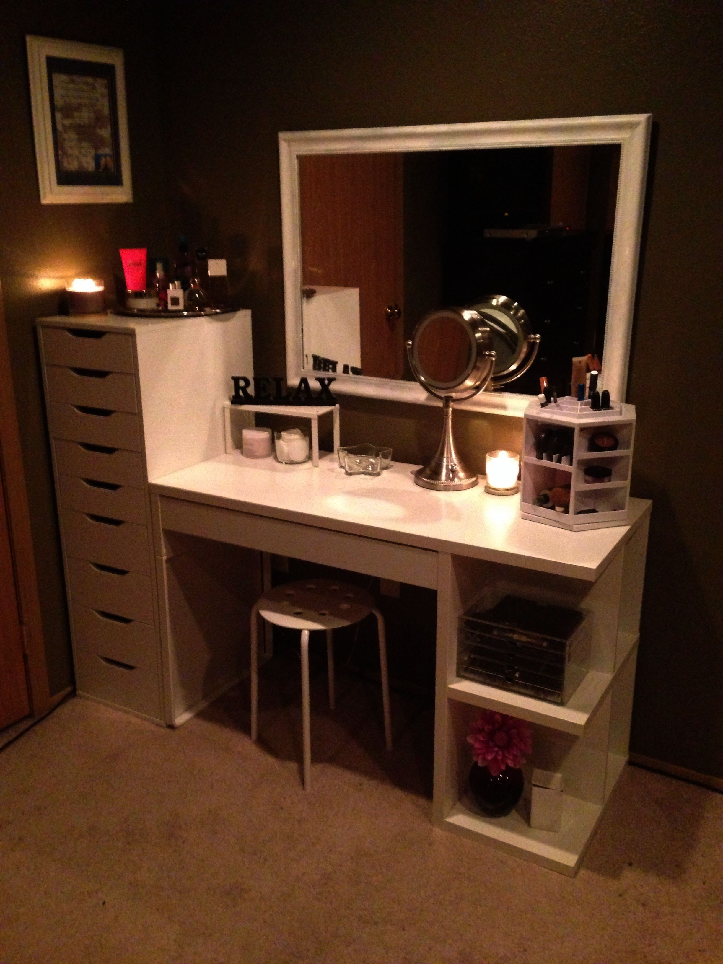 Makeup Storage Ideas For Small Bathroom Makeup Station